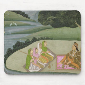 A Princess listening to female musicians by a rive Mouse Pad