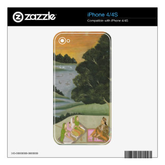 A Princess listening to female musicians by a rive Skin For The iPhone 4S