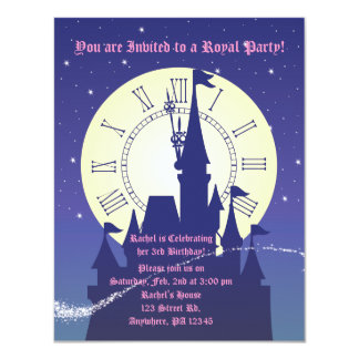 "A Princess Royal Birthday Party Invitation 4.25"" X 5.5"" Invitation Card"