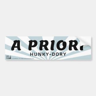 A priori - hunky dory bumper sticker