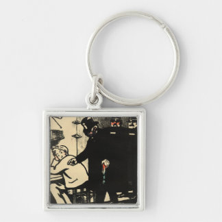 A prisoner is exiled from Crimes and Silver-Colored Square Keychain