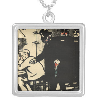 A prisoner is exiled from Crimes and Silver Plated Necklace