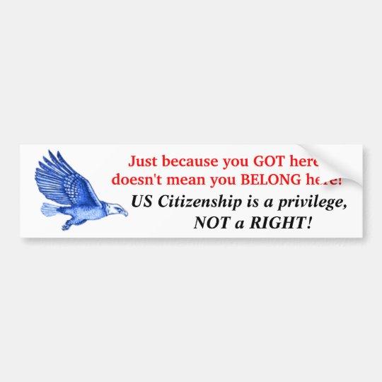 A Privilige, Not A Right! Bumper Sticker
