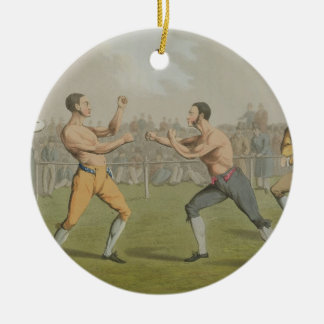 A Prize Fight, aquatinted by I. Clark, pub. by Tho Ceramic Ornament