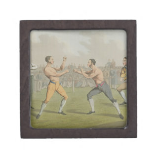 A Prize Fight, aquatinted by I. Clark, pub. by Tho Gift Box