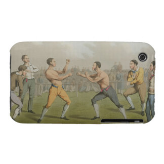 A Prize Fight, aquatinted by I. Clark, pub. by Tho iPhone 3 Cover