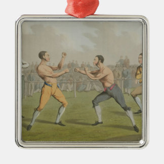 A Prize Fight, aquatinted by I. Clark, pub. by Tho Metal Ornament