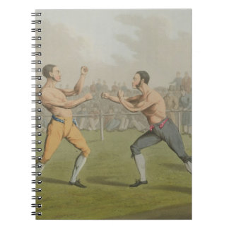 A Prize Fight, aquatinted by I. Clark, pub. by Tho Notebooks