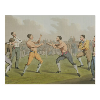 A Prize Fight, aquatinted by I. Clark, pub. by Tho Postcard