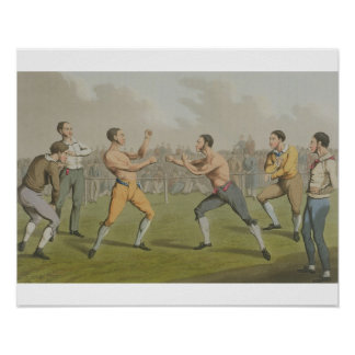 A Prize Fight, aquatinted by I. Clark, pub. by Tho Print
