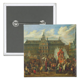 A Procession at Antwerp, 1697 Button