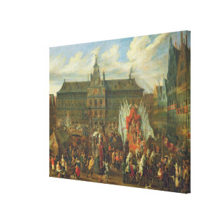 A Procession at Antwerp, 1697 Canvas Print