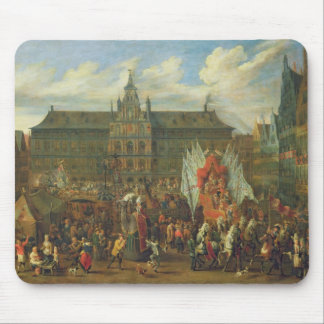 A Procession at Antwerp, 1697 Mouse Pad
