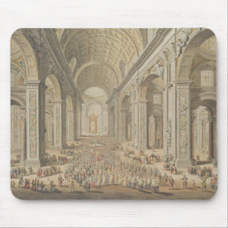 A Procession in St Peter's, Rome (w/c over an etch Mouse Pad