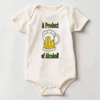 A PRODUCT OF ALCOHOL BABY BODYSUIT
