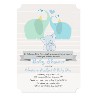 A Product of Our Love Boy Baby Shower Invitation