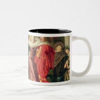 A Promenade in the Garden, c.1623 Two-Tone Coffee Mug