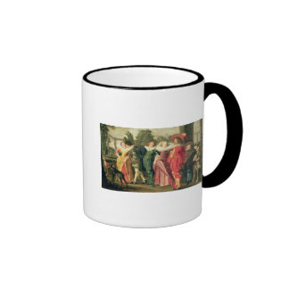 A Promenade in the Garden, c.1623 Ringer Coffee Mug