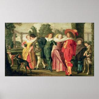 A Promenade in the Garden, c.1623 Poster