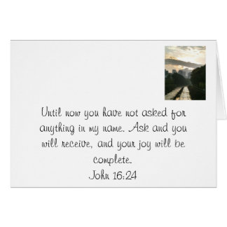 A promise from Jesus. Card