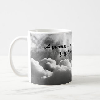 A promise is a cloud quote mug