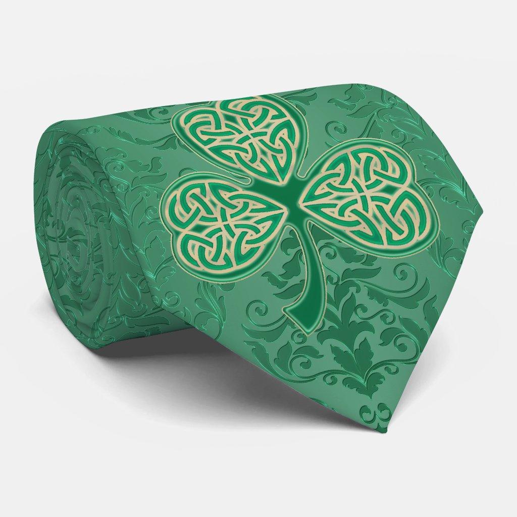 A Proper St. Patrick's Day Irish Green Shamrocks Neck Tie
