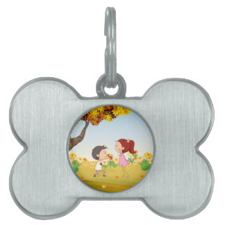 A proposal at the hills pet name tag