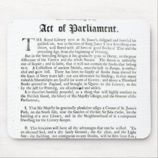 A Proposal for building a Royal Library, 1697 Mouse Pads