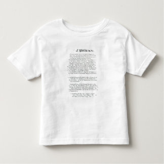 A Proposal for building a Royal Library, 1697 Toddler T-shirt