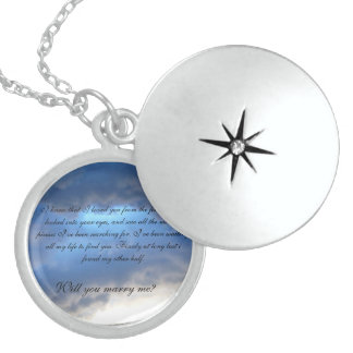 A proposal of love. sterling silver necklace
