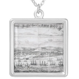 A Prospect of Bridge Town in Barbados Silver Plated Necklace