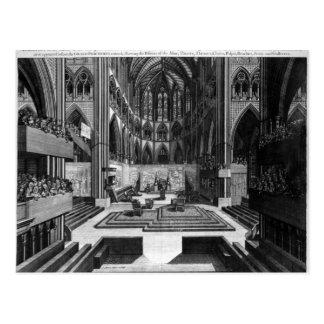 A Prospect of the Inside Collegiate Church Post Card