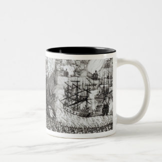 A Prospect of the Town and Harbour Two-Tone Coffee Mug