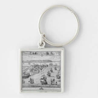 A Prospect of the Towne and Harbour of Harwich Keychain
