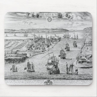 A Prospect of the Towne and Harbour of Harwich Mousepad