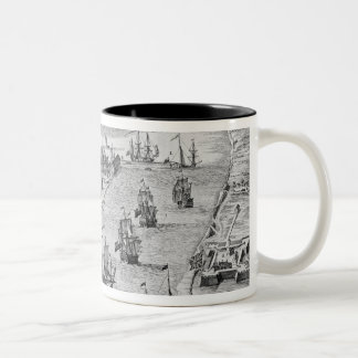 A Prospect of the Towne and Harbour of Harwich Two-Tone Coffee Mug