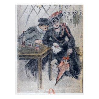 A Prostitute and her Client Postcard