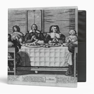 A Protestant family blessing the meal 3 Ring Binder