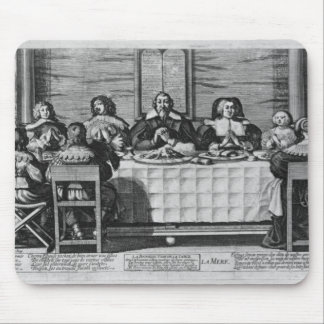 A Protestant family blessing the meal Mouse Pad