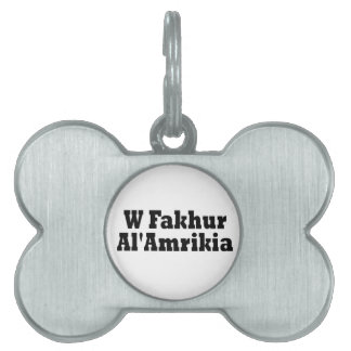 A Proud American Pet ID Tag