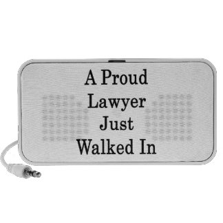 A Proud Lawyer Just Walked In Travelling Speakers