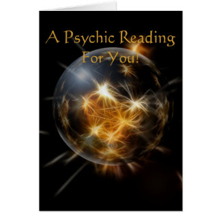 """A Psychic Reading For You"" Greeting Card"