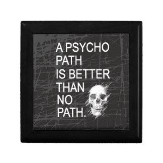 A psychopath is better than no path type w skull keepsake box