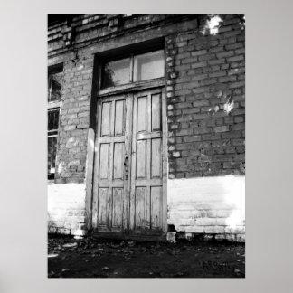 A puerta cerrada póster