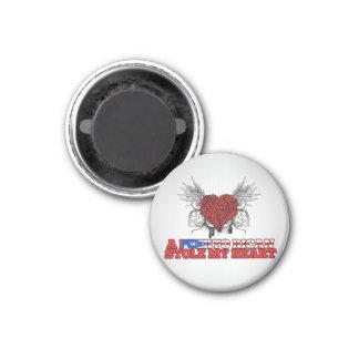 A Puerto Rican Stole my Heart Fridge Magnets