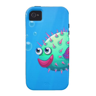 A puffer fish smiling iPhone 4 cases
