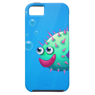 A puffer fish smiling iPhone 5 cases