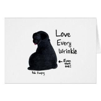 A Pug Wrinkle in Time (Black pug version) Card