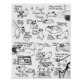 A Pug's Favorite Things, Part II Posters