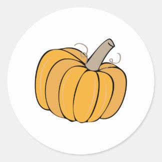 A Pumpkin Classic Round Sticker